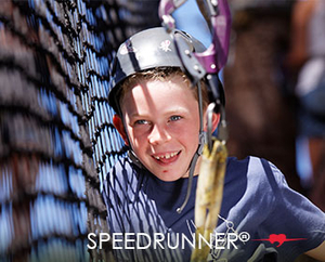 Speedrunner® is an economic solution for your aerial adventure park, featuring the industry's first self-closing gap mechanism. With the safety line at half height, it can be installed in a variety of configurations.