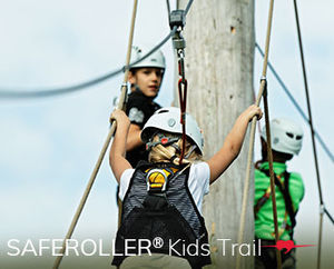 Saferoller® Kids Trail is the leading kid-friendly adventure for children 4 years and up. Challenge your limits and go beyond: Saferoller® Kids Trail is intuitive – it rolls with your movements. Boost your Kid's confidence and build their trust. Saferoller® is simple – just slip on and roll. Only Saferoller® offers safety line out-of-reach for thrilling fast hands-free rolling. Reduce your operating costs for enhanced profitability.  Create everlasting memories, build lifelong costumers: 75% of your clients are under 15. Keep them coming back.  More Kids, More Fun, More Money!