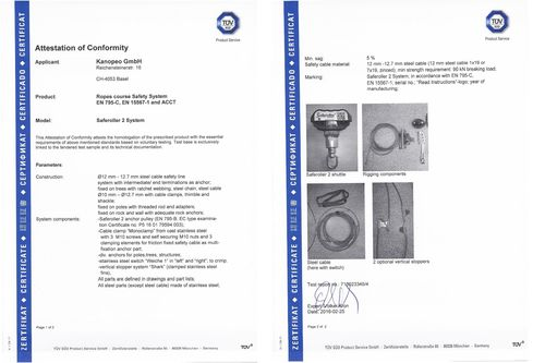Continuous belay system Saferoller by Kanopeo I Standards ...